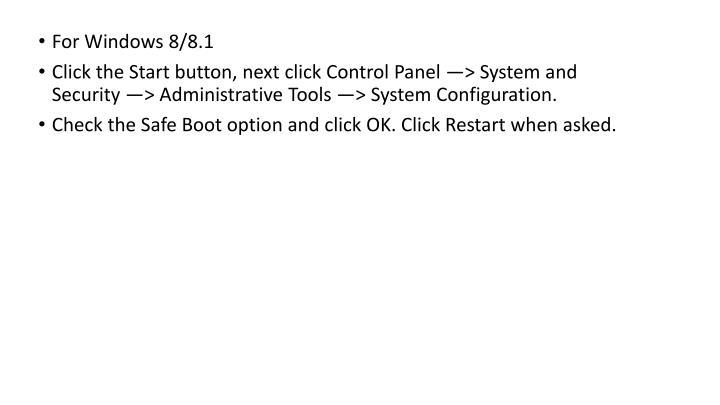 For Windows 8/8.1