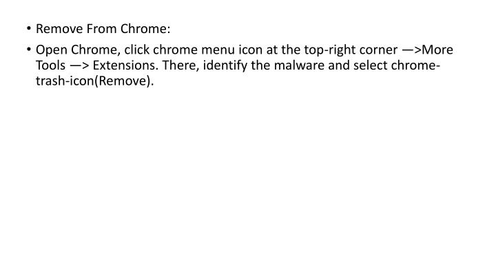 Remove From Chrome: