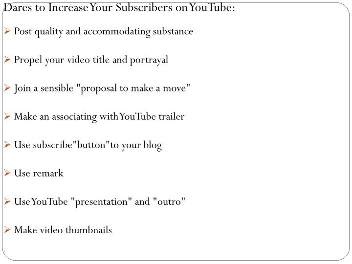 Dares to Increase Your Subscribers on YouTube: