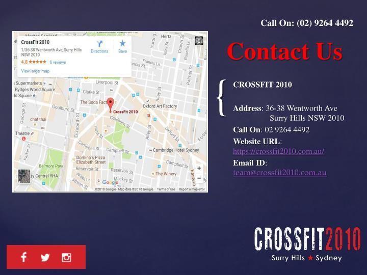 Call On: (02) 9264 4492