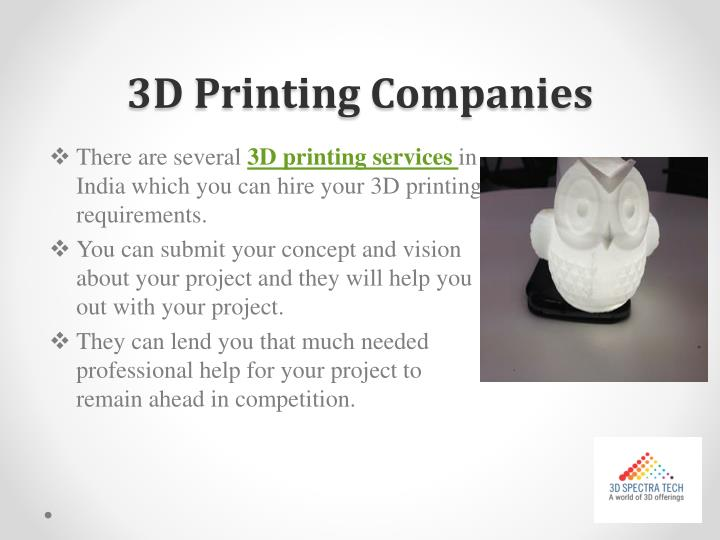 3D Printing Companies