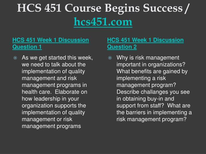 Hcs 451 course begins success hcs451 com2