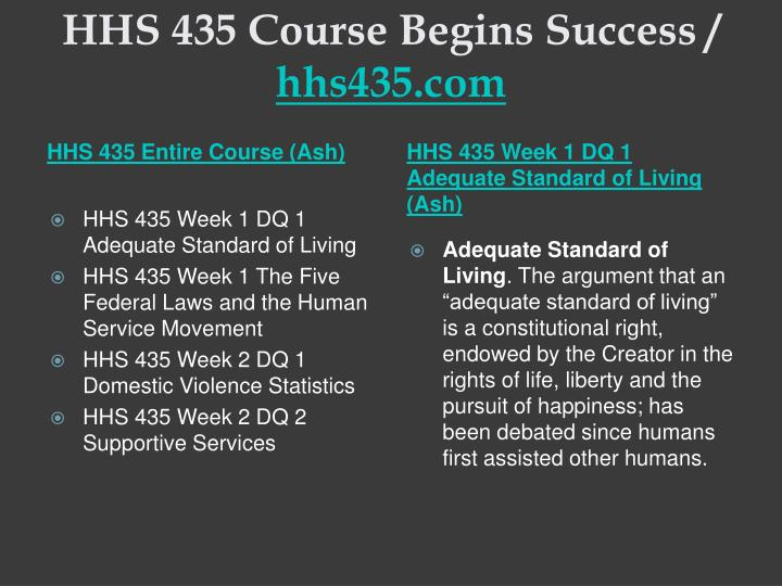 Hhs 435 course begins success hhs435 com1