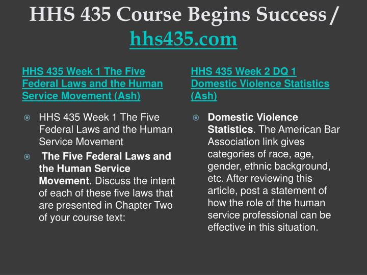 Hhs 435 course begins success hhs435 com2