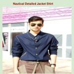 nautical detailed jacket shirt