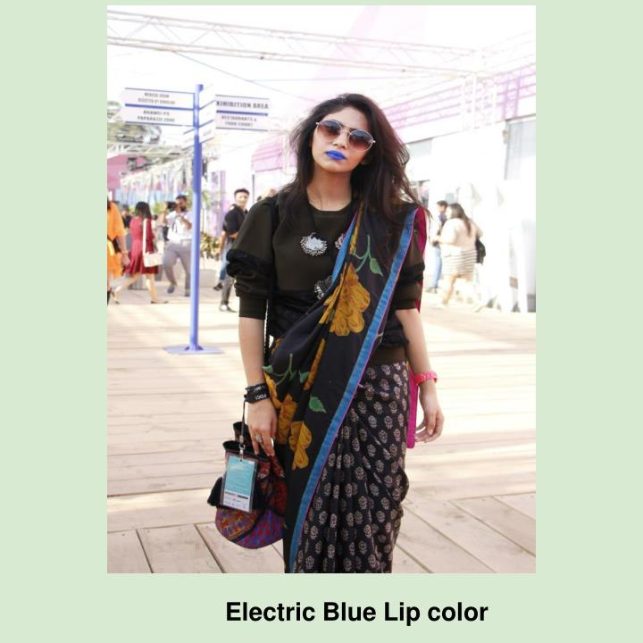 Electric Blue Lip color