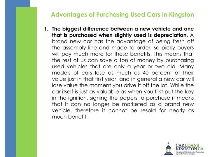 Advantages of PurchasingUsed Cars in Kingston