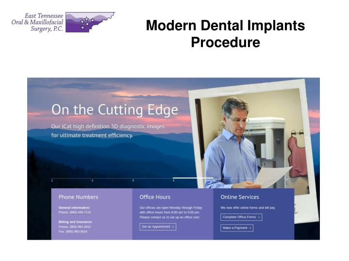 Modern Dental Implants Procedure