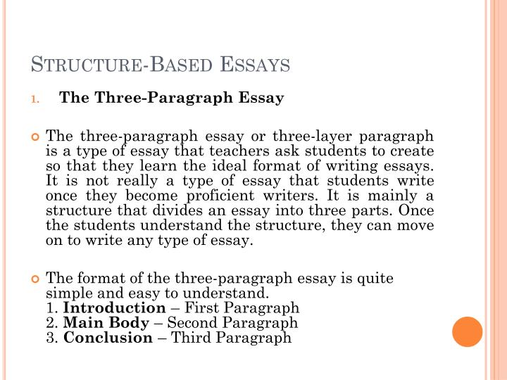 Structure-Based Essays