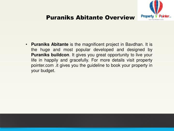 Puraniks Abitante Overview