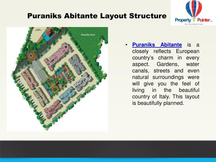 Puraniks Abitante Layout Structure