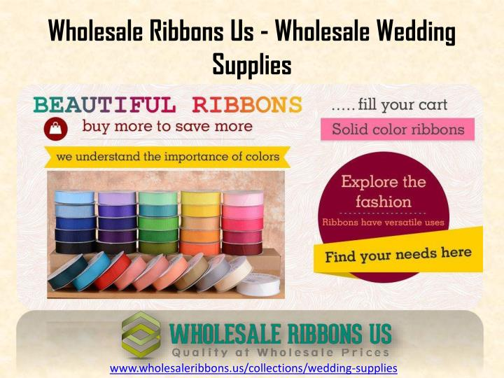 Wholesale ribbons us wholesale wedding supplies