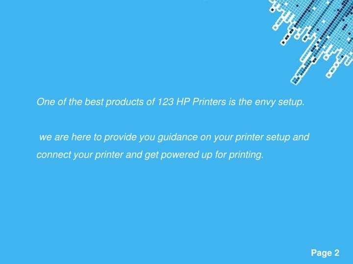 One of the best products of 123 HP Printers is the envy setup.