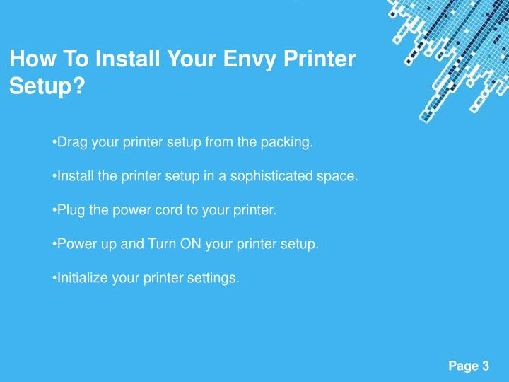 How To Install Your Envy Printer