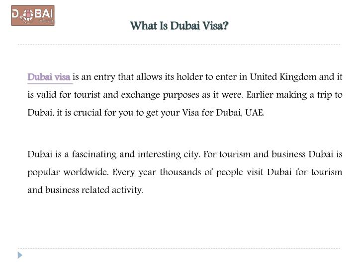 What is dubai visa