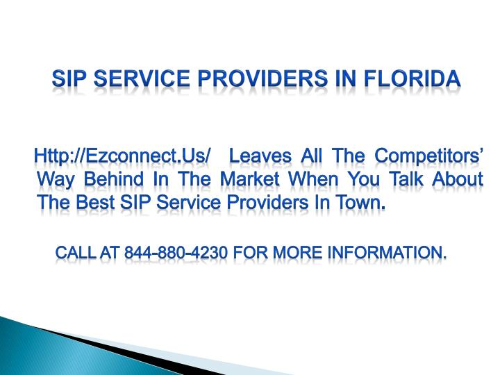 SIP Service Providers in Florida