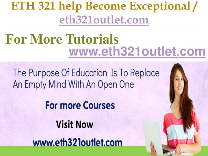 Eth 321 help become exceptional eth321outlet com