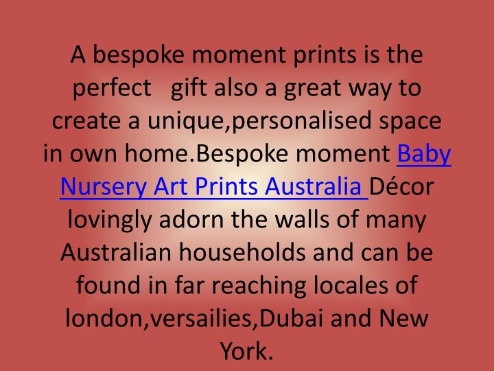 A bespoke moment prints is the perfect gift also a great way to create a unique,personalised space ...