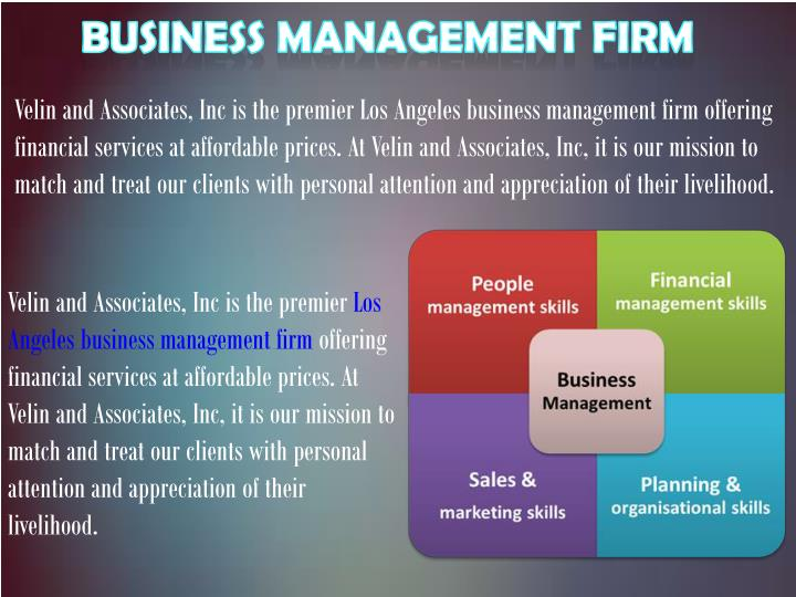Business Management Firm