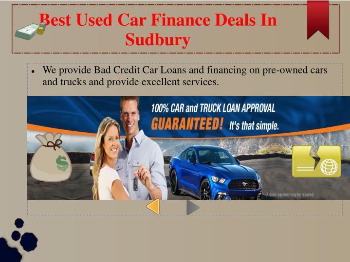 Best Used Car Finance Deals In Sudbury