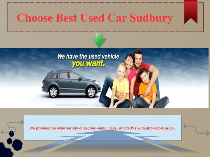 Choose Best Used Car Sudbury