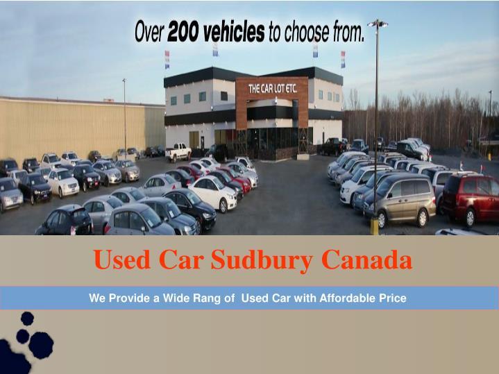 Used Car Sudbury Canada