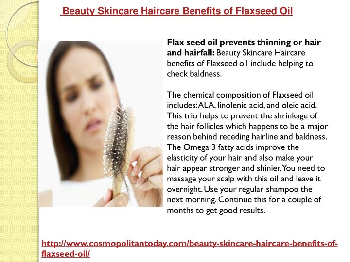 Beauty Skincare Haircare Benefits of Flaxseed Oil