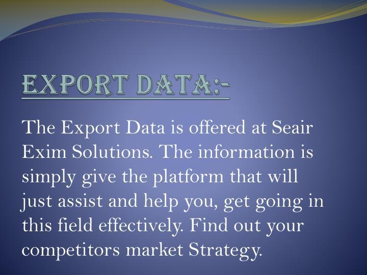 Export Data:-