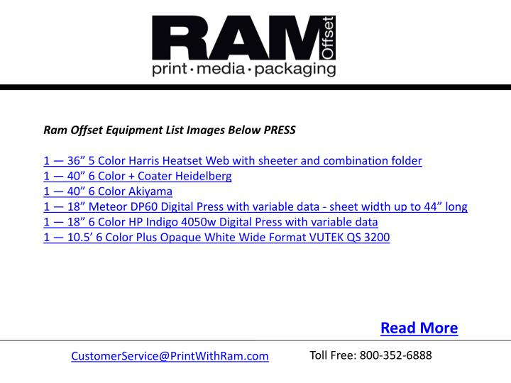 Ram Offset Equipment ListImages