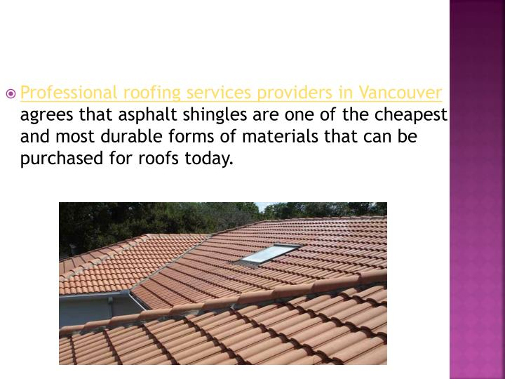 Professional roofing services providers in Vancouver