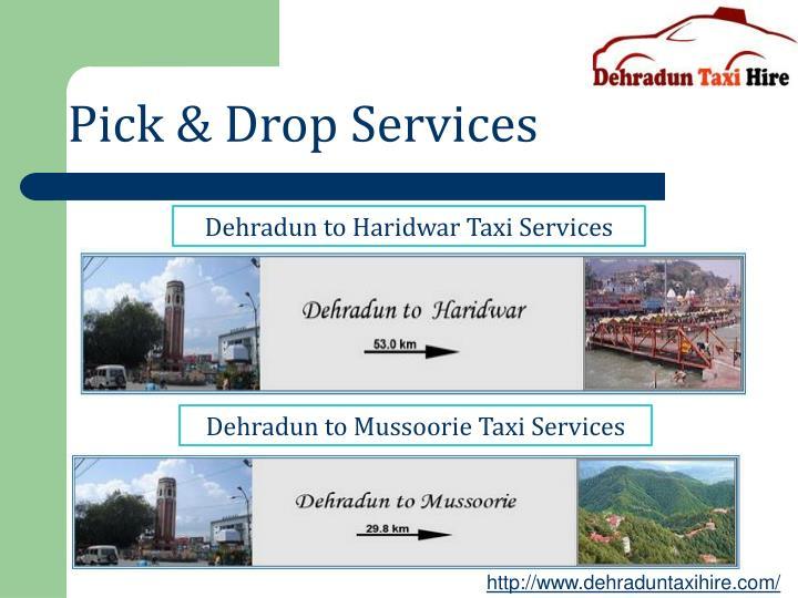 Pick & Drop Services