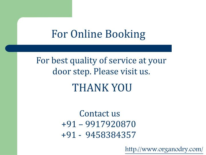 For Online Booking