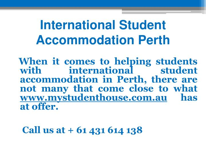 International Student Accommodation Perth