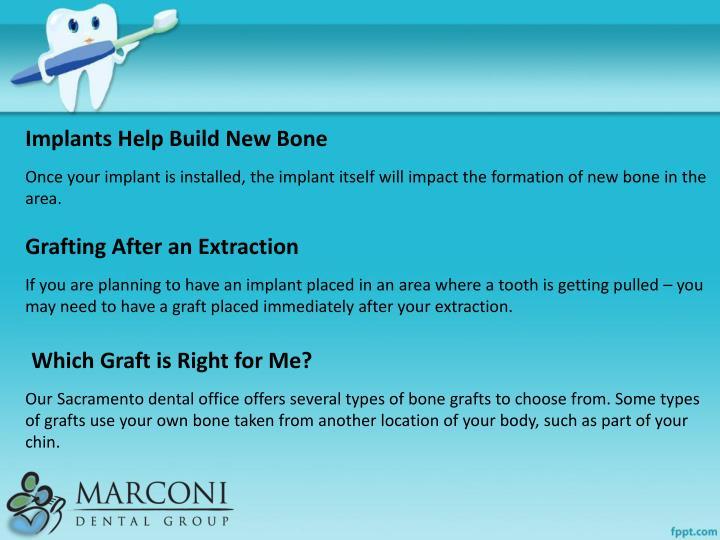 Implants Help Build New Bone