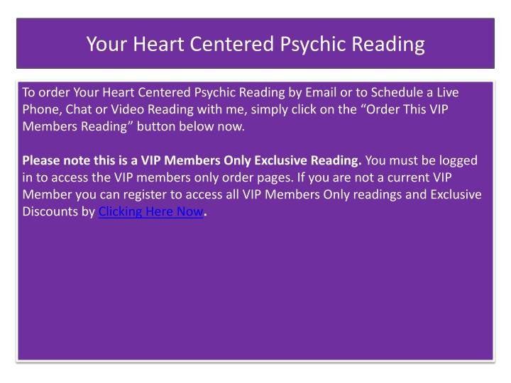 Your Heart Centered Psychic Reading