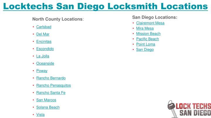 Locktechs San Diego Locksmith Locations