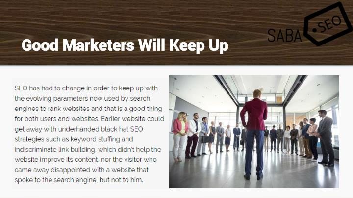 Good Marketers Will Keep Up
