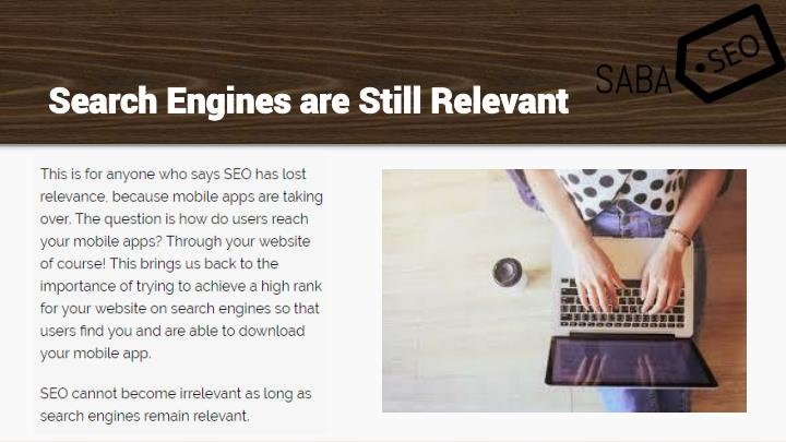 Search Engines are Still Relevant
