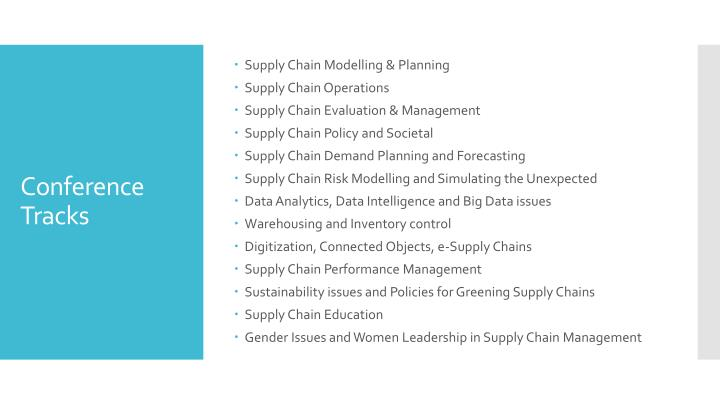 Supply Chain Modelling & Planning