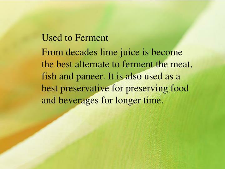 Used to Ferment