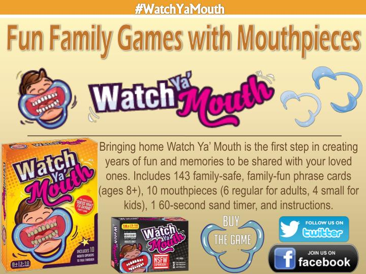Bringing home Watch Ya' Mouth is the first step in creating