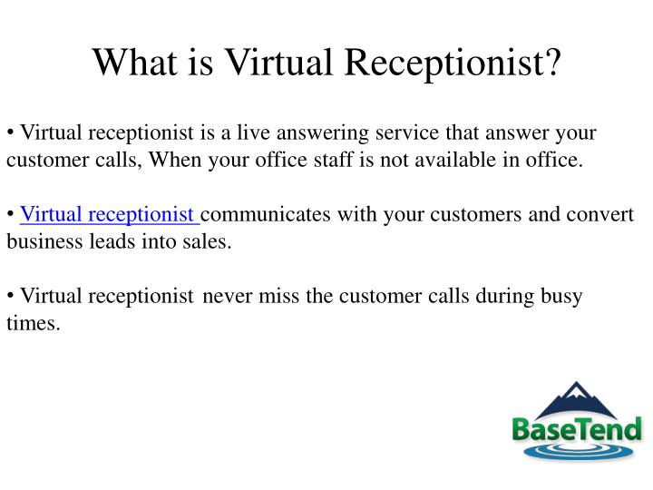 What is virtual receptionist