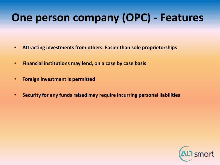 One person company (OPC