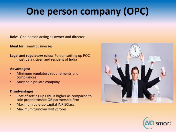 One person company (OPC)