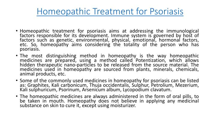 Homeopathic Treatment for Psoriasis