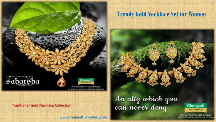 Trendy Gold Necklace Set for Women