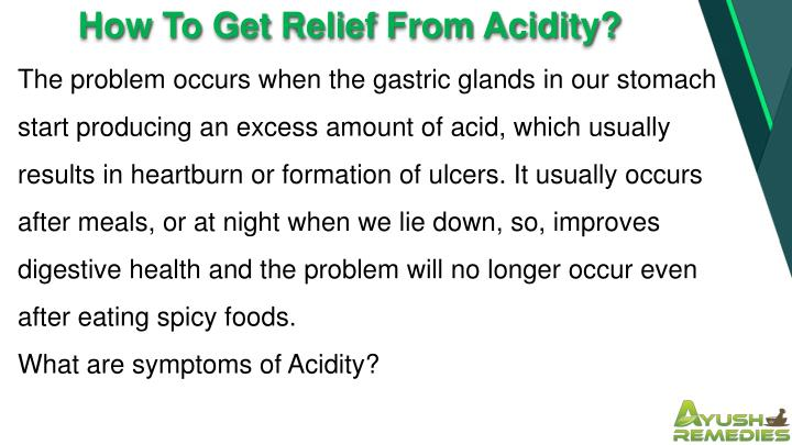 How To Get Relief From Acidity?