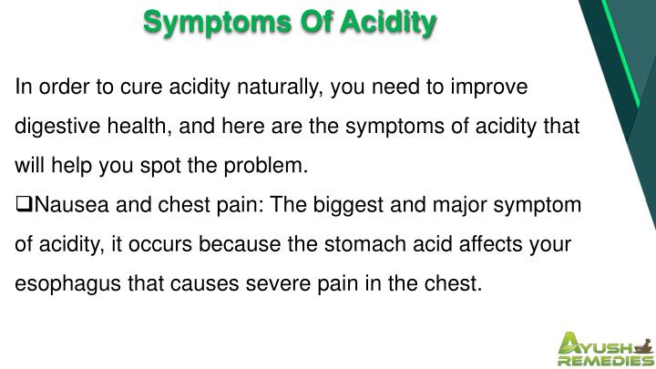 Symptoms Of Acidity