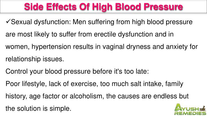 Side Effects Of High Blood Pressure