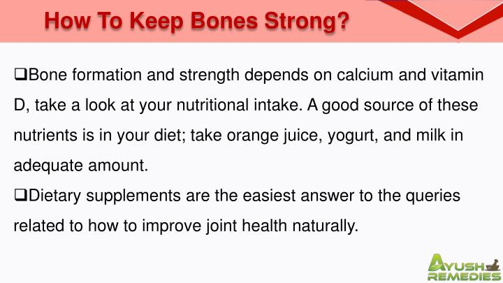 How To Keep Bones Strong?